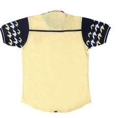 Yellow Hounds-tooth Print Shirt