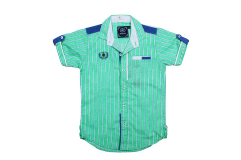 Green Stripes Shirt - mashup boys