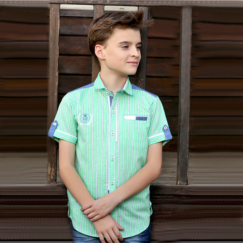Green Stripes Shirt - KRAZYLA