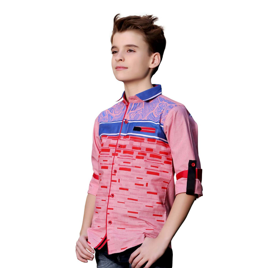 MashUp Graphic Print Red Shirt - KRAZYLA