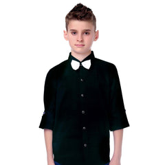 MashUp Black Tuxedo Shirt and Bowtie Combo - KRAZYLA