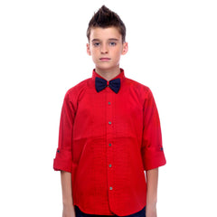 MashUp Red Tuxedo Shirt and Bowtie Combo - KRAZYLA