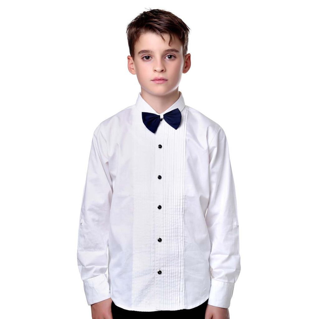 MashUp White Tuxedo Shirt and Bowtie Combo - mashup boys