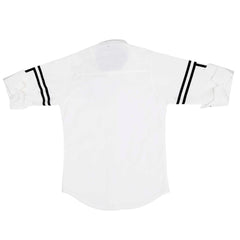 MashUp Trendy Striper White Shirt - KRAZYLA