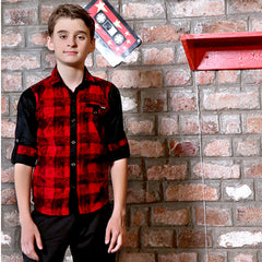 Mashup Plaid Print Shirt - mashup boys