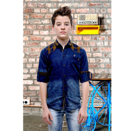 MashUp Casual Denim & Check Shirt - mashup boys