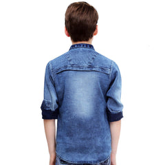MashUp Rugged Denim Shirt - KRAZYLA