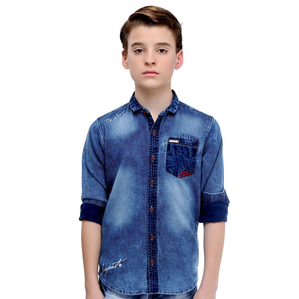 MashUp Rugged Denim Shirt - mashup boys