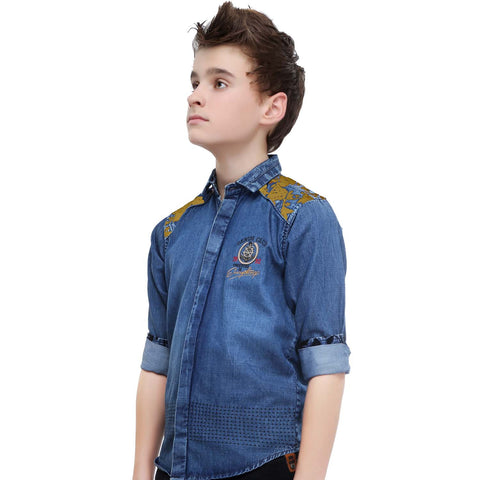 MashUp Designer Denim Shirt - KRAZYLA