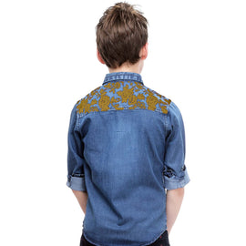 MashUp Designer Denim Shirt - mashup boys