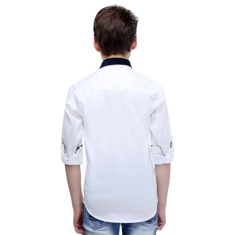 MashUp White Designer Printed Shirt - mashup boys