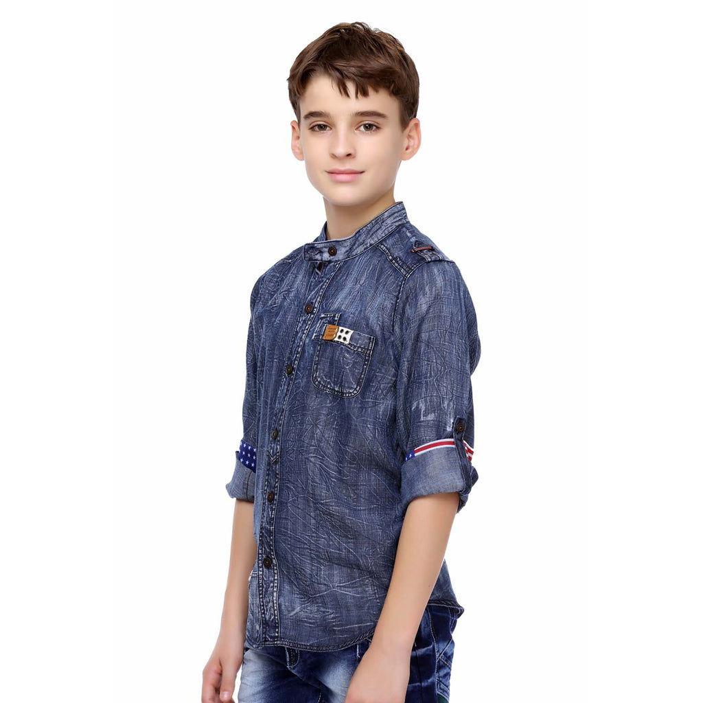 MashUp Denim Casual Shirt - mashup boys