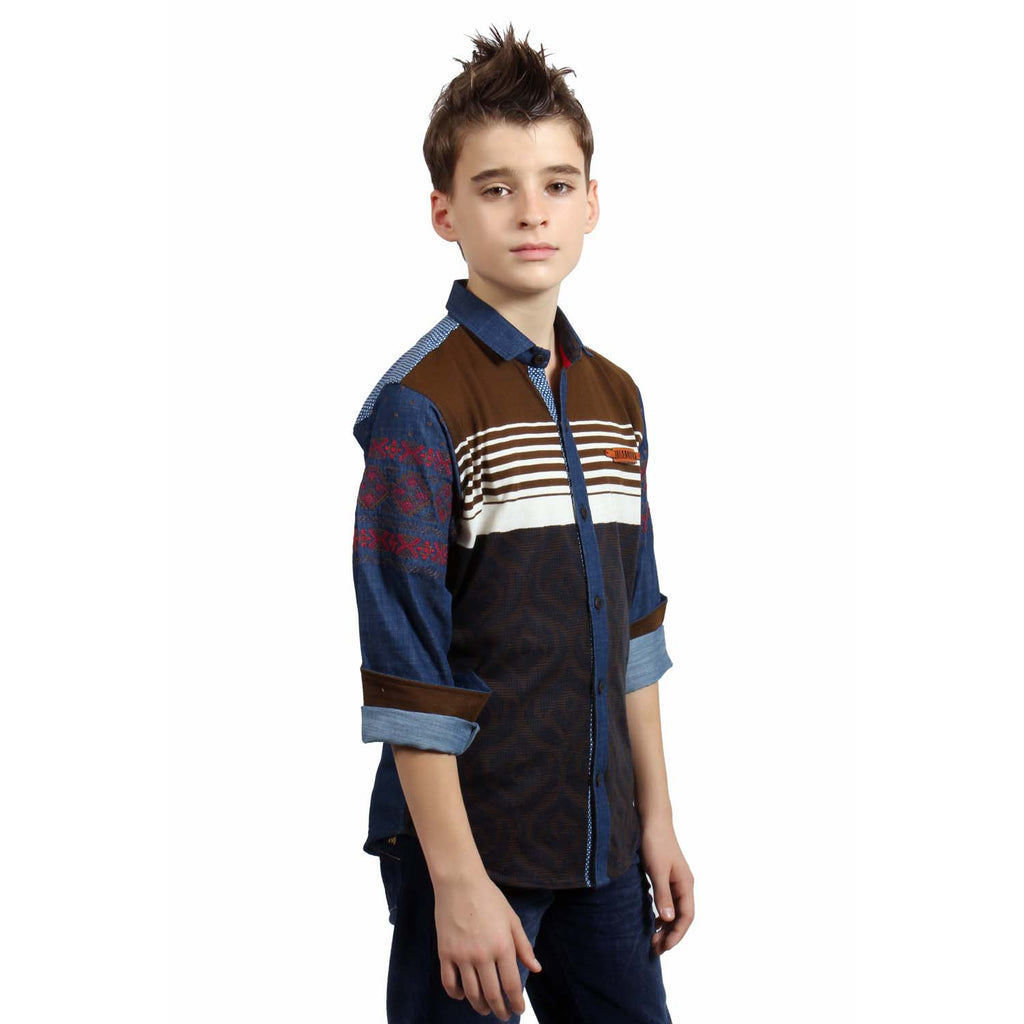MashUp Designer Casual Brown Shirt - mashup boys