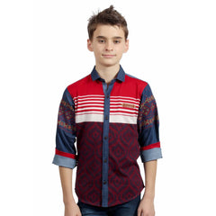 MashUp Designer Casual Red Shirt - KRAZYLA