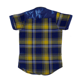 Mashup Denim & Checks Casual Shirt - KRAZYLA