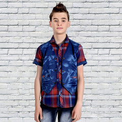 Mashup Checks Casual Shirt - mashup boys