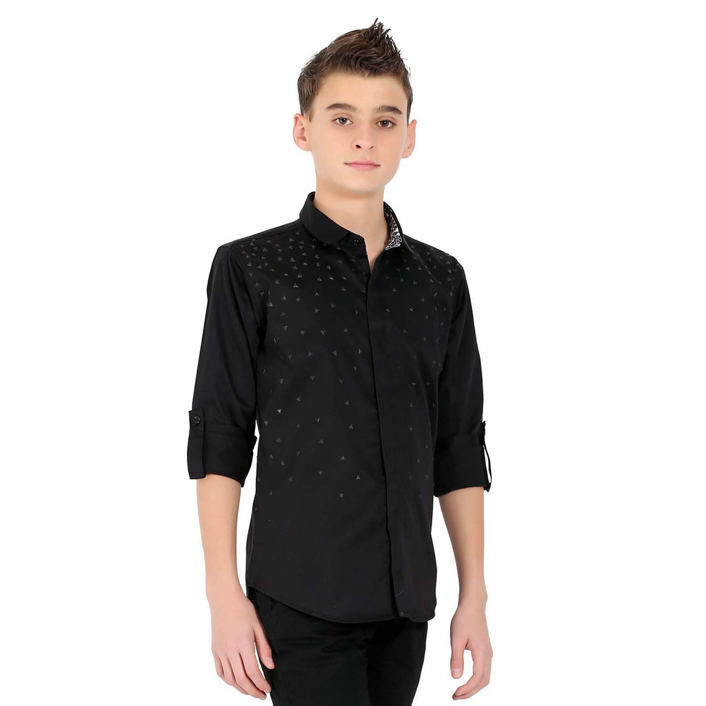 MashUp Designer Formal Black Shirt - mashup boys