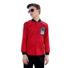 MashUp  Red Baseball Collar Shirt - mashup boys