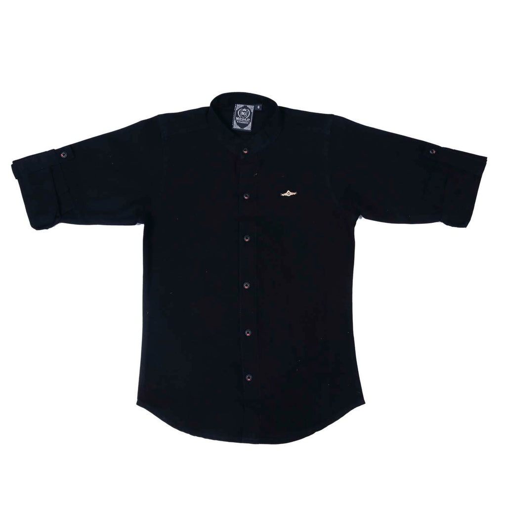 Mashup Mandarin Collar Shirt - MASHUP