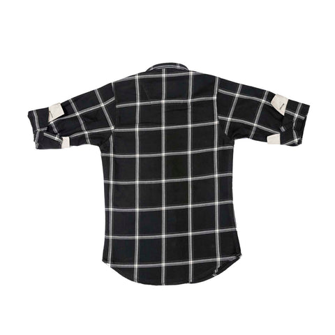 Mashup Navy Blue Checked Shirt - mashup boys