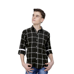 Mashup Navy Blue Checked Shirt - KRAZYLA