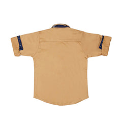 Mashup Fawn Solid Party Shirt- - mashup boys