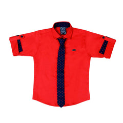 Mashup Red Solid Party Shirt - mashup boys