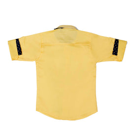 Mashup Yellow Solid Party Shirt - KRAZYLA