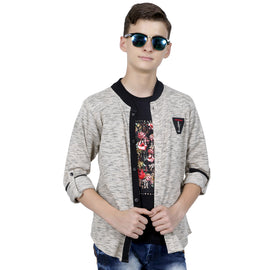 MashUp cool shacket with printed t- shirt. - MASHUP