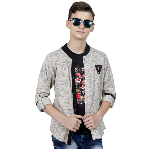 MashUp cool shacket with printed t- shirt. - mashup boys