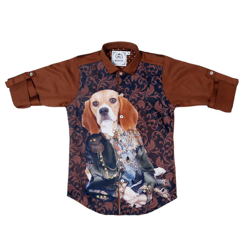Mashup Manimal Print Party Shirt - mashup boys