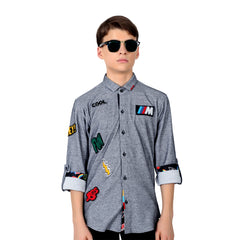 MASHUP COOL EMBRIODERY PATCHES SHIRT - mashup boys