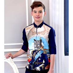 MashUp CAT MILITA PRINT Shirt - mashup boys