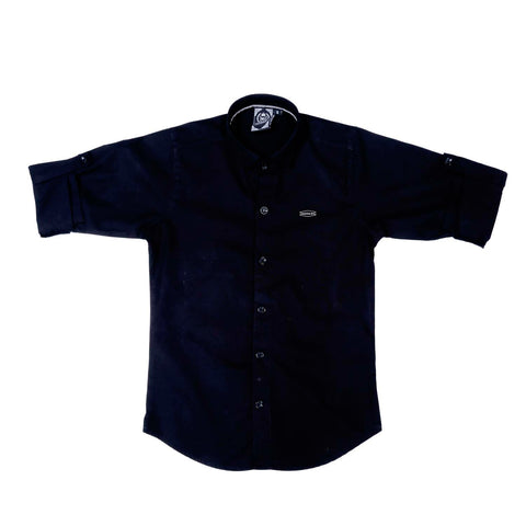 MashUp Solid Black Shirt - KRAZYLA