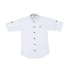 MashUp Solid White Shirt - KRAZYLA