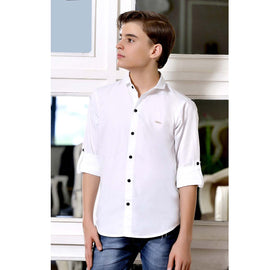 MashUp Solid White Shirt - mashup boys