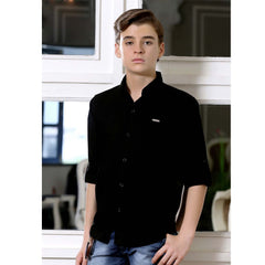 MashUp Solid Black Shirt - mashup boys
