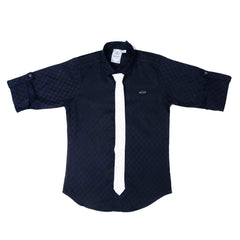 MahUp Black Satin Club wear Shirt - KRAZYLA