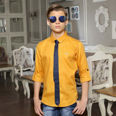 MashUp Mustard Satin Club wear Shirt - mashup boys