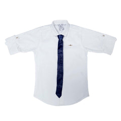 MashUp White Satin Club wear Shirt - KRAZYLA