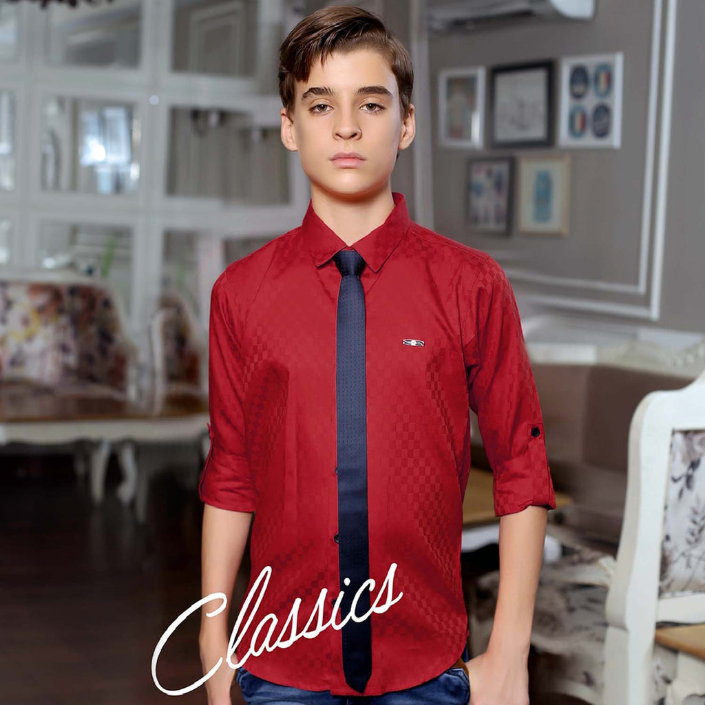 MashUp Maroon Satin Club wear Shirt - KRAZYLA