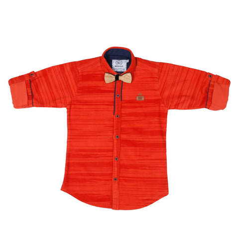 MashUp Striped Orange Shirt - KRAZYLA