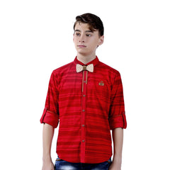 MashUp Striped Red Shirt - KRAZYLA