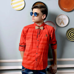 MashUp Striped Orange Shirt - mashup boys