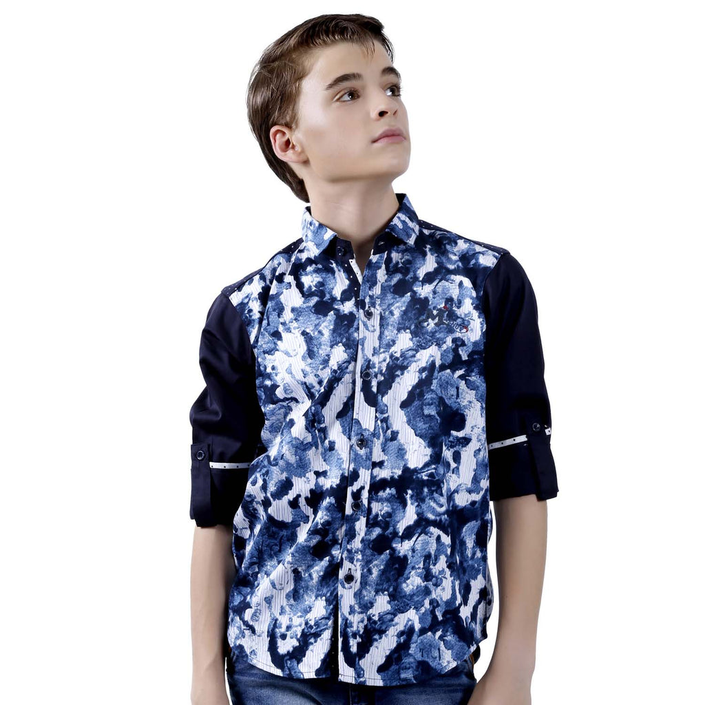 MashUp Contrasting Sleeves Shirt - mashup boys