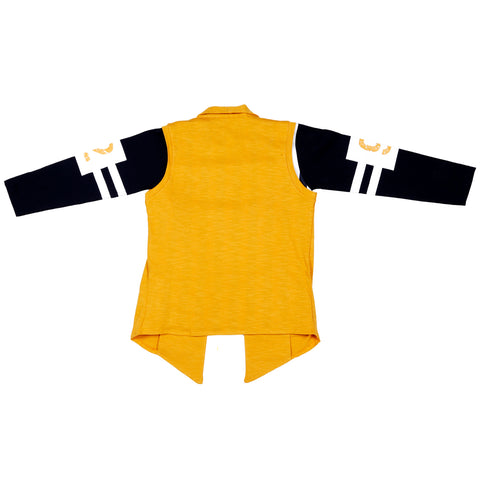 Mustard sporty shrug & T-shirt - mashup boys