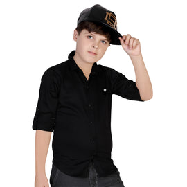 MashUp Black Casual Shirt - KRAZYLA