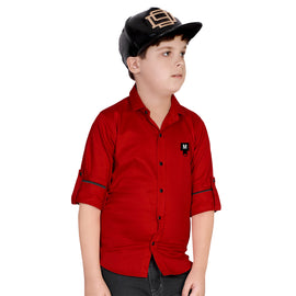 MashUp Red Casual Shirt - mashup boys