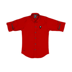 MashUp Red Casual Shirt - KRAZYLA