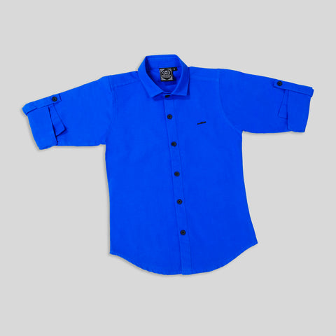 MashUp Classic Royal Blue Shirt for Young boys